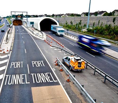 Dublin port tunnel north entrance