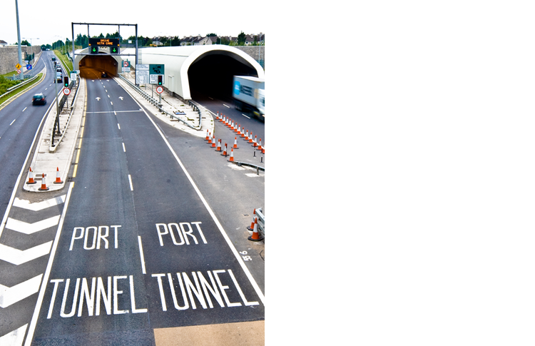 Dublin port tunnel northbore entrance