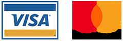 Visa mastercard logos showing payments accepted