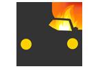 Car fire sign